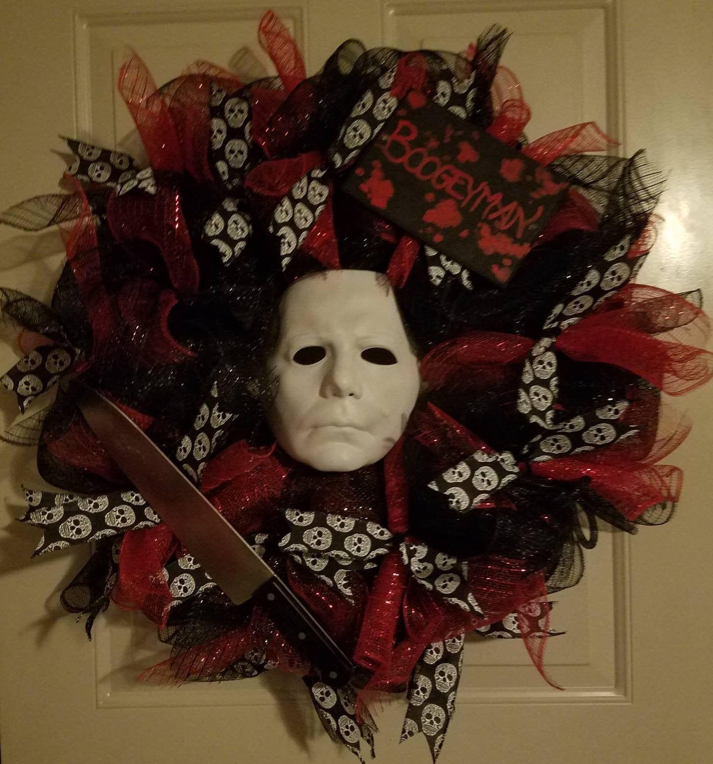 Halloween Wreath Michael Myers Wreath in 2020