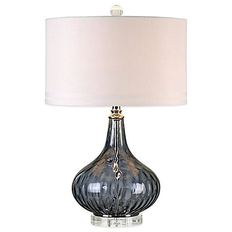 Uttermost Sutera Water Glass Table Lamp In Polished Nickel