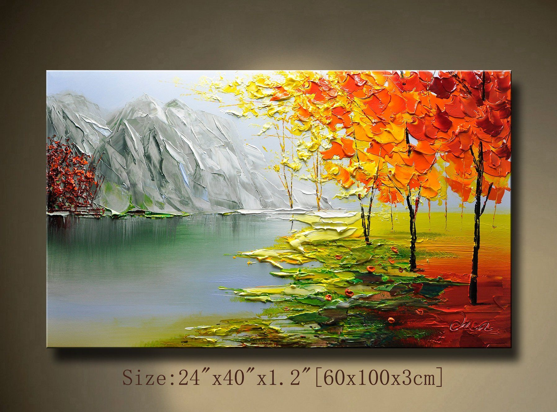 Abstract Wall Painting Palette Knife Abstract Painting Textured Painting Landscape Painting Colourful Tree Painting On Canvas By Chen Ff Abstract Wall Painting Landscape Paintings Texture Painting
