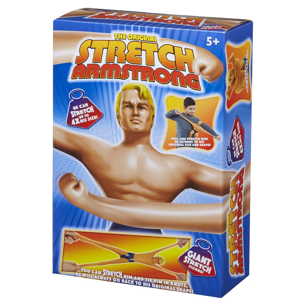 Stretch Armstrong Action Figure Kenner Hasbro Vintage Original Kids Toy Fun Play
