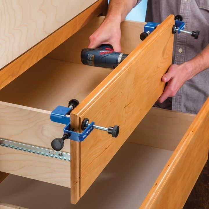Drawer Front Installation Clamps Woodworking
