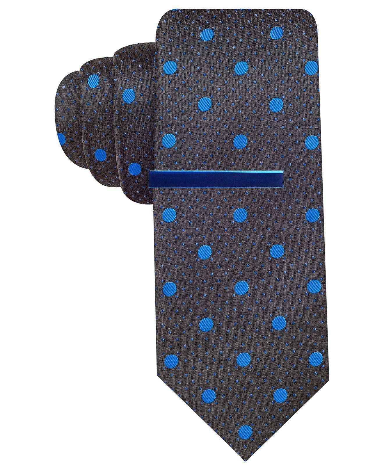 Alfani RED Tie, Tempe Dot with Tie Bar - Ties - Men ...
