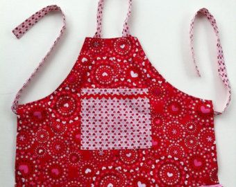 Toddler Girls Ruffled Tea Party Apron Size 3/4 by SheandMeDesigns