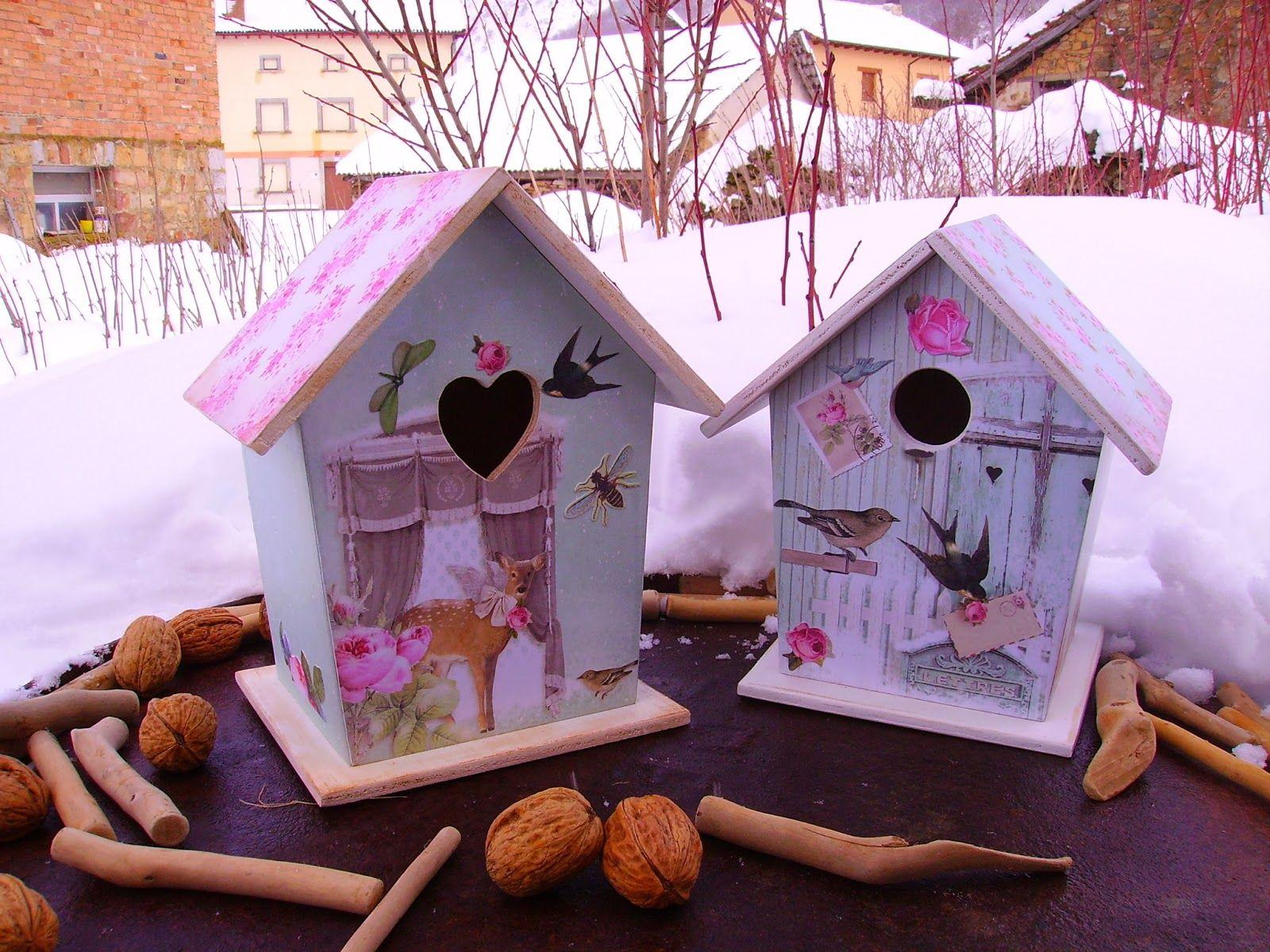 Retazos de madera casitas de pajaros ideas para - Casitas pequenas de madera ...
