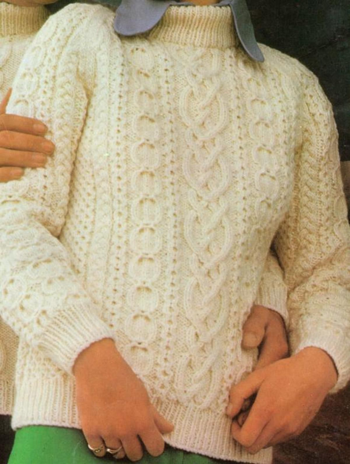 Tradional Unisex Aran Jumper/Sweater | Craftsy | Pam\'s sweaters ...