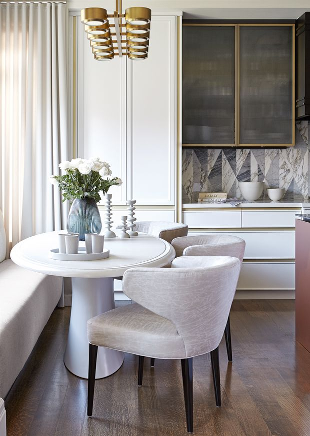 Contemporary Meets Glam In This Family-Friendly Kitchen