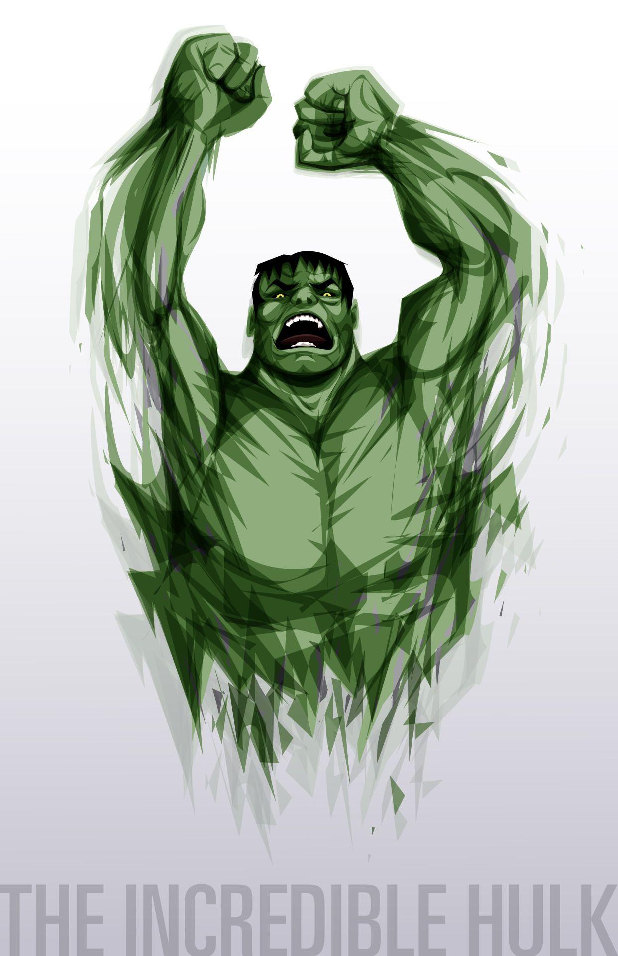 HULK ICONIC GREEN ARTWORK T SHIRT