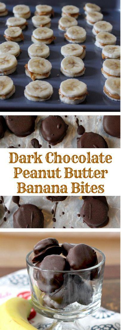 Dark Chocolate Peanut Butter Banana Bites images