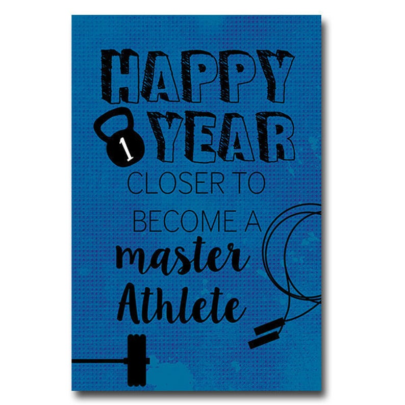 Crossfit Birthday Card Crossfit Master Crossfit Card Etsy Motivational Cards Birthday Cards Card Workout
