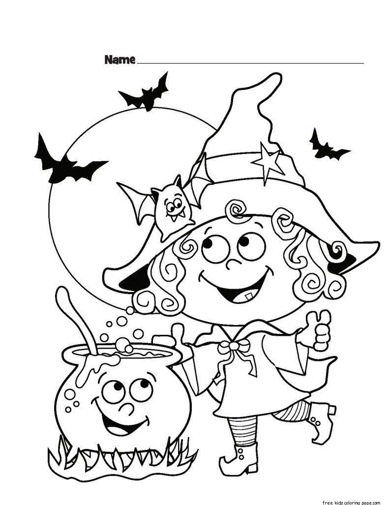 Childrens Halloween Witch Costumes Coloring Page For Kids Halloween Coloring Sheets Halloween Coloring Pages Free Halloween Coloring Pages