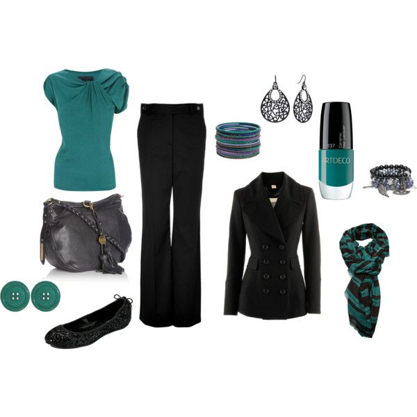 Teal and black