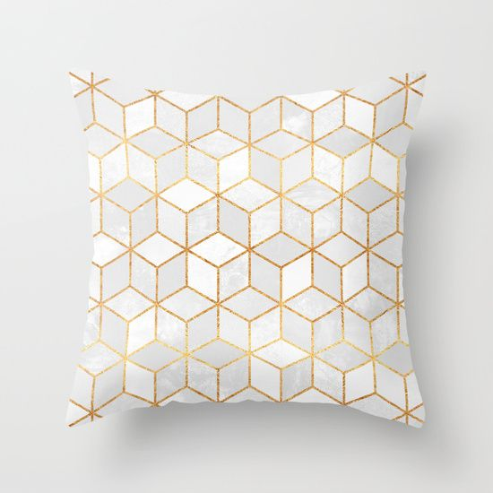 Buy White Cubes Throw Pillow by Elisabeth Fredriksson. Worldwide shipping available at Society6.com. Just one of millions of high quality products available.