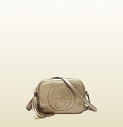 7458171261f golden disco bag. soho metallic leather disco bag Gucci ...