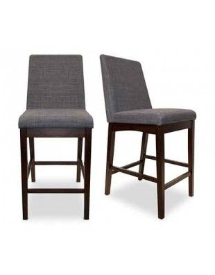 Allan Counter Stool Set Of 2 Gray Dining Chairs Modern Dining