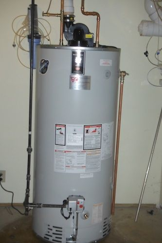75 Gallon Power Vent Bradford White Water Heater Water Heater Repair Sump Pump Repair Elgin Illinois