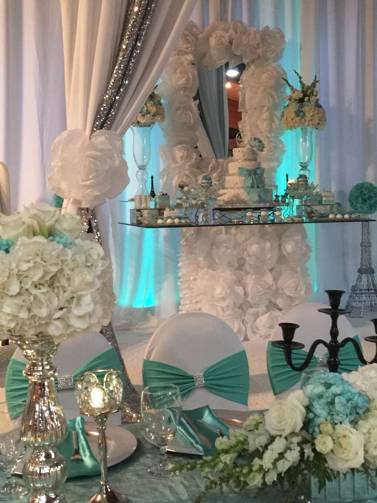 15 Decorating A Small Living Room Dining Room Combination: Tiffany Quinceañera Party Ideas In 2019