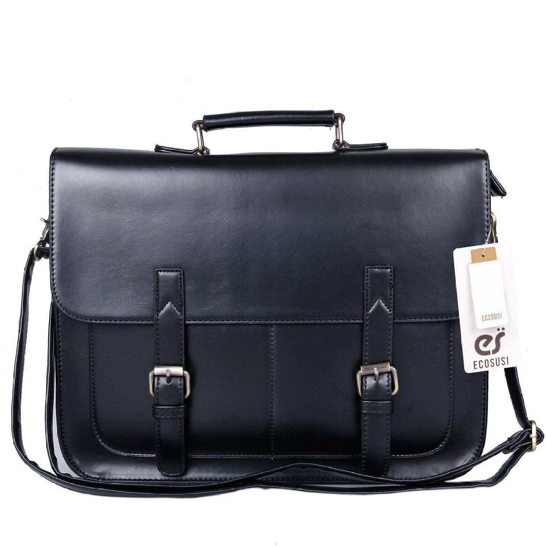 Amazon.com: ECOSUSI Vintage Faux Leather 14