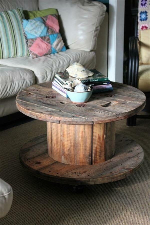 DIY Holz Wohnzimmermöbel aus Kabeltrommeln Deco Pinterest - wohnzimmermöbel selber bauen