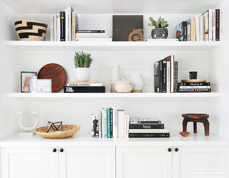 Before And After Client Freakin Fabulous Amber Interiors Natural ShelvesShelf ArrangementUpstairs LoftBookshelf