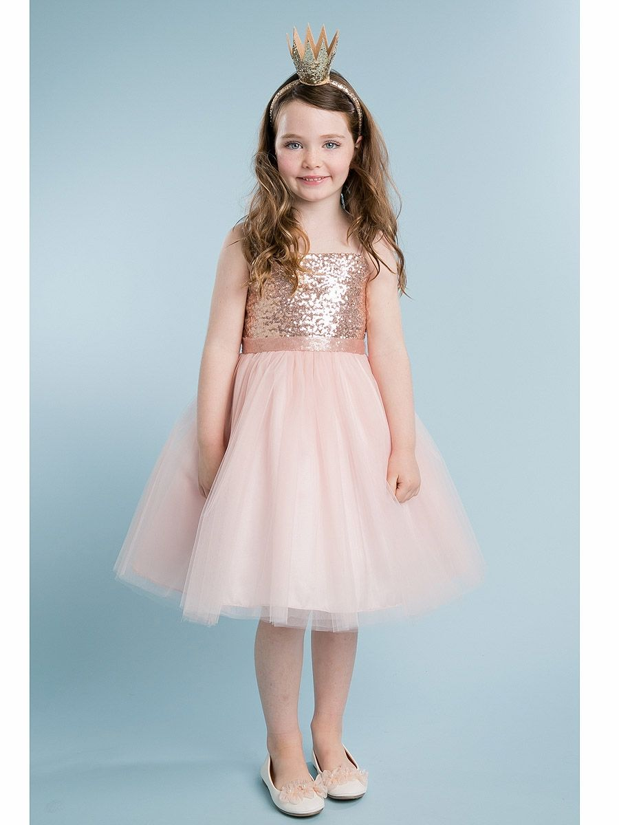 Click to Buy << 2017 New Arrival Sequin Bodice Flower Girl Dress ...