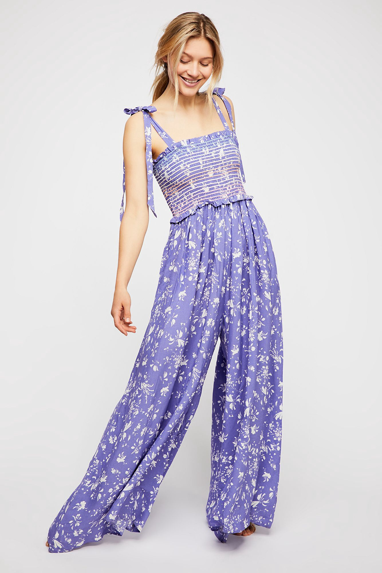 aed6e472e027 Free People Color My World Jumpsuit - Red Currant Combo Xs ...
