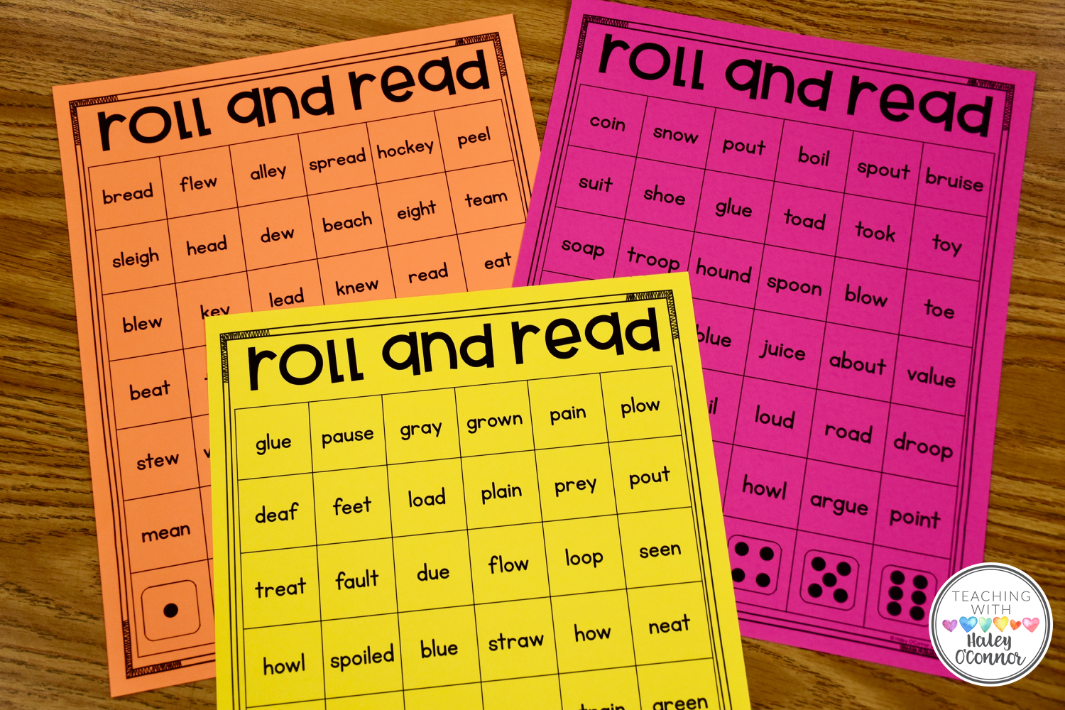 Roll And Read Vowel Teams Literacy Center For Practicing Vowel Teams