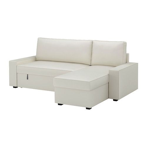 VILASUND Covered sofa bed with chaise IKEA The cover is easy to
