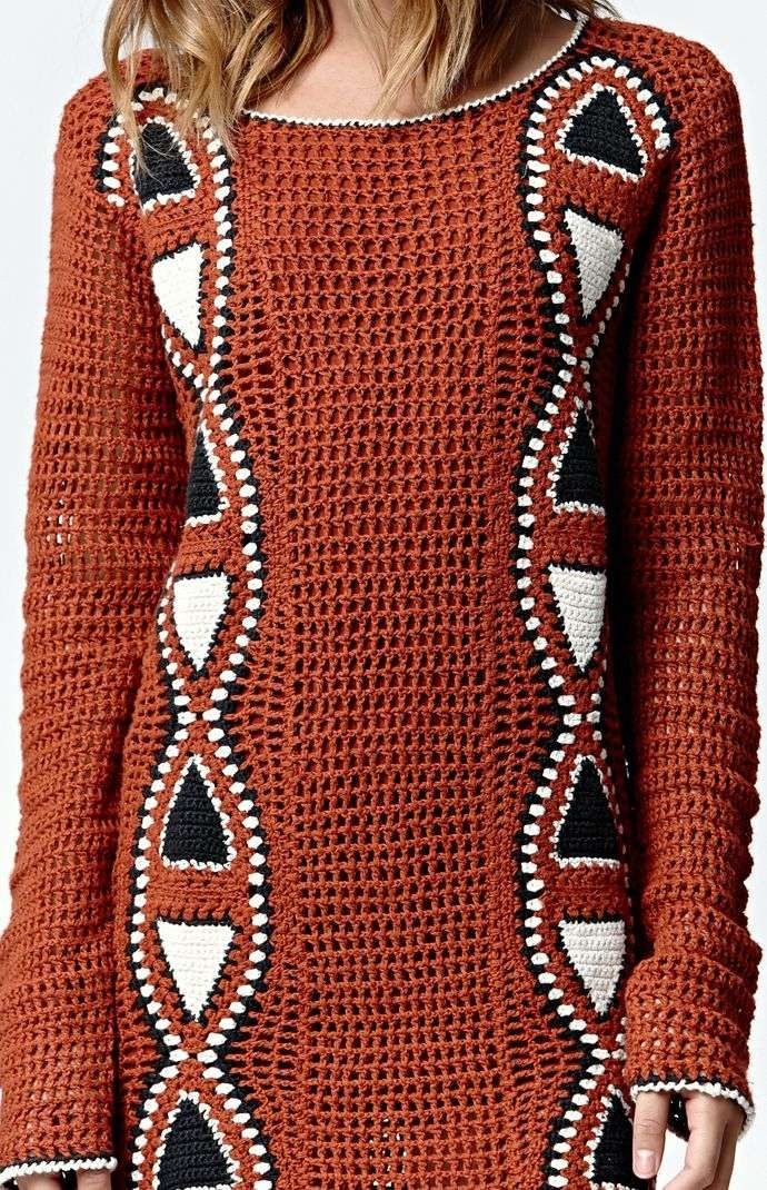 Crochetemoda Vestido De Crochet Roupas De Croche Moda Croche Modelo De Trico Gratis