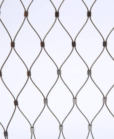 Stainless Steel Rope Mesh With Ferrules Fancy Fence Wire Mesh Fence Mesh Fencing