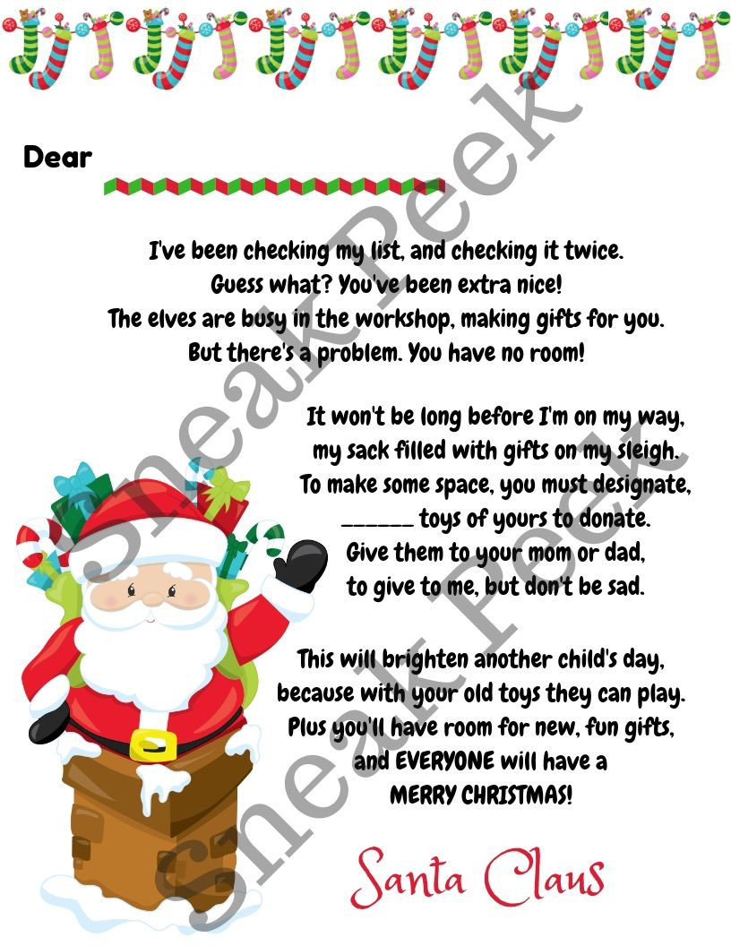 Toy Donation Letter from Santa cleanup toydonation