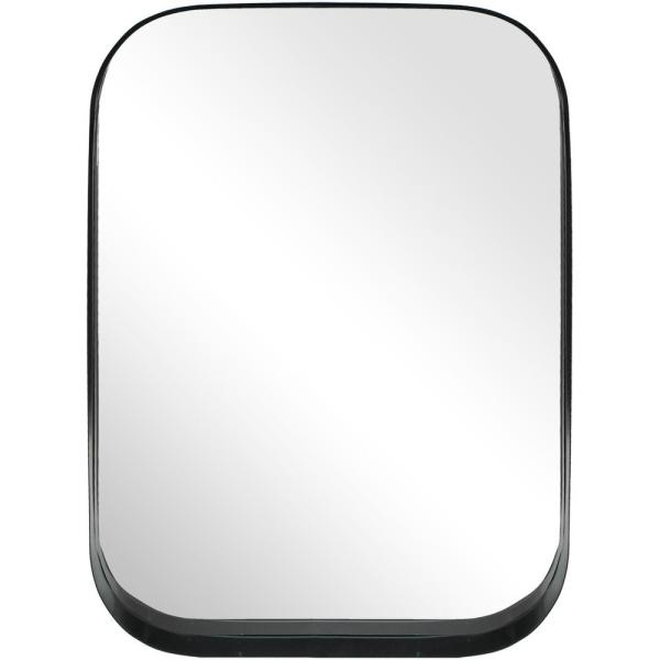 24 X 30 Rectangular Decorative Wall Mirror With Rounded Corners Black Project 62 In 2020 Mirror Wall Mirror Wall Decor Round Corner