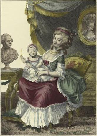 Princesse Victoire Armande de Rohan-Soubise, Princesse de Guéméné, 8ème.  Duchesse de Montbazon (1743-1807); Gouv…   Costume français, Fille unique,  Gravures de mode