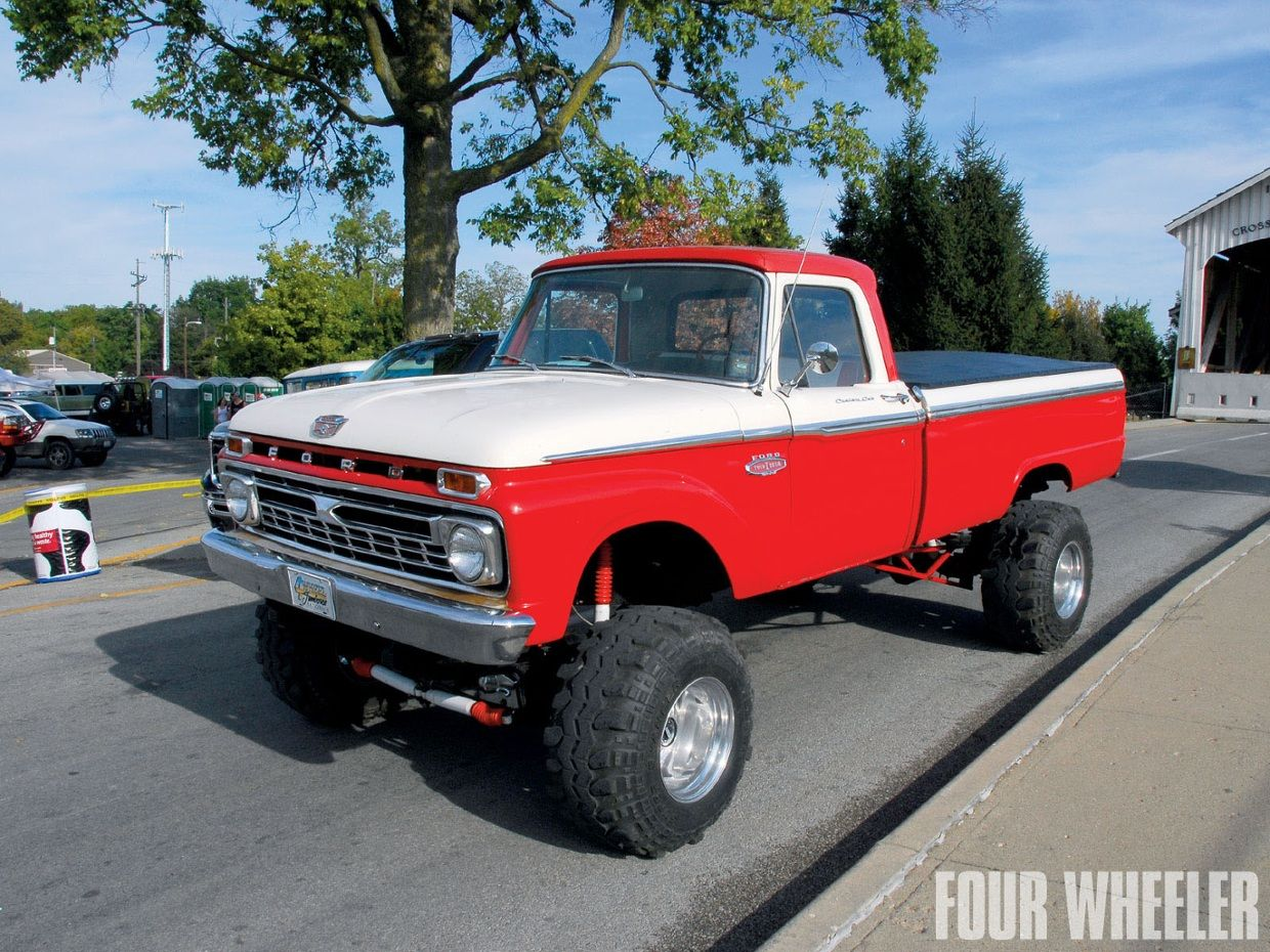 small resolution of chrome red white wheel 1964 f100 4x4 thinglink