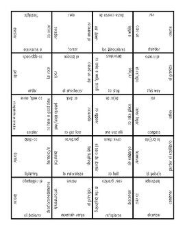 Camping Vocabulary Puzzle (Realidades 3, Ch 1) (With
