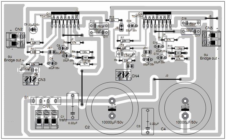 Tda7294 Audio Amplifier 2 X 80w