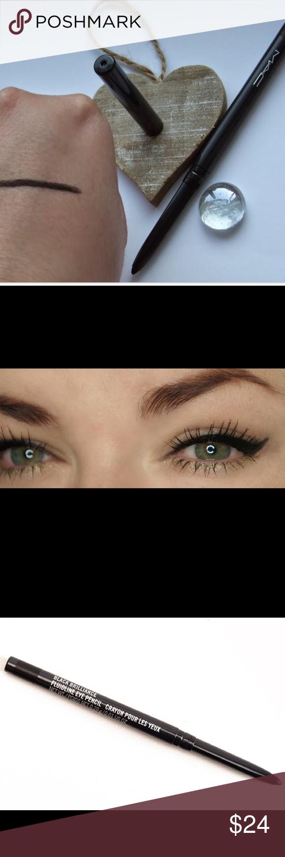 BLACK BRILL DISCONT MAC Fluidline Eyeliner NWT Boutique