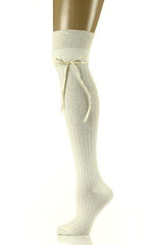 Womens Over The Knee Socks - Ribbon - Ivory Nvie Designs, http://www.amazon.com/dp/B00A02N4QU/ref=cm_sw_r_pi_dp_Vt29qb0Q4ZG9M