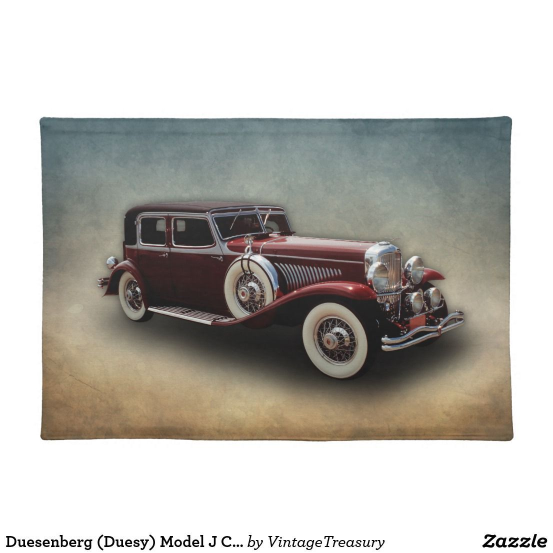 Duesenberg (Duesy) Model J Classic Car Placemat | Zazzle.com