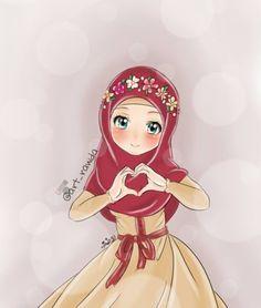 نتيجة بحث الصور عن اجمل صور بنات كرتون اسلامى Islamic Cartoon Anime Muslim Anime Muslimah