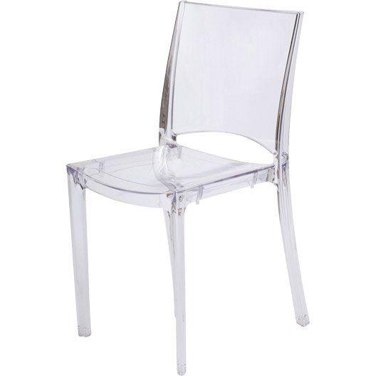 Chaise De Jardin En Resine Paris Lux Couleur Transparent Chaise Chaises Bois Et Chaise Transparente