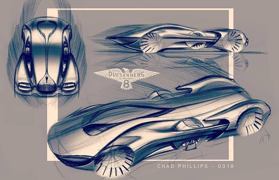 Sweet #Duesenberg concept sketches by @ccstrans student Chad Phillips (@cp_designz) • Join the #DuesenbergDesignChallenge and tag us! - @formtrends, @cardesign.ru, @motivezine, @cardesignsketch and @cardesigndaily • #cardesign #duesey #duesenbergdesignchallenge #concept #luxury #conceptdesign #bespoke #elegance #sketching #sketch #carsketch #cardrawing #designsketch #sketchbook #automotivedesign #transportdesign #vehicledesign #cardesigner #vision #car #instacar #carsofinstagram #cargram #autode