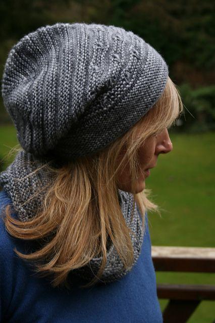 Ravelry: K2 hat and cowl set pattern by Paulina Popiolek