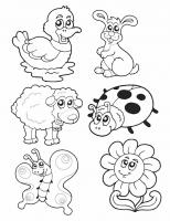 animales de primavera para colorear dibujos animales de la