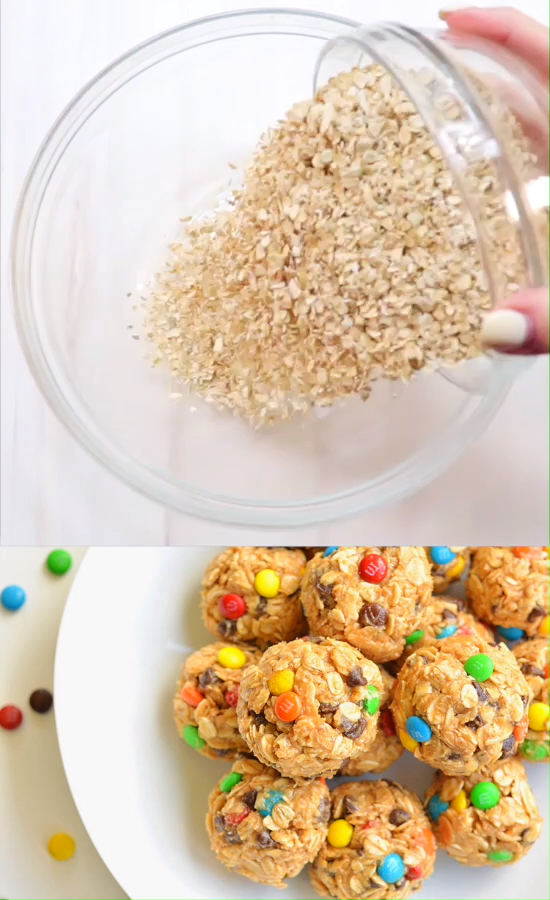 No-Bake Monster Cookie Energy Bites