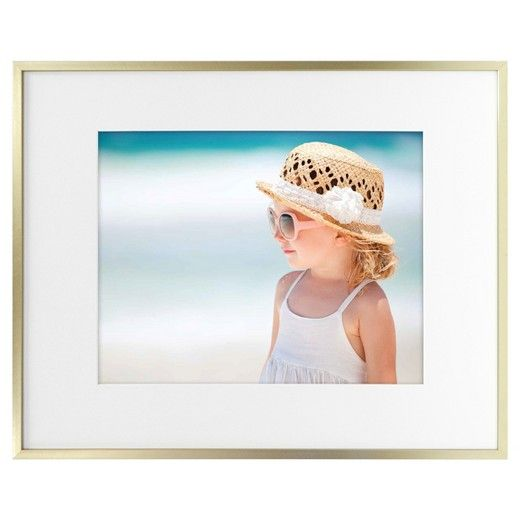 Metal Frame - Brass - 16x20 Matted for 11x14 Photo - Room Essentials ...