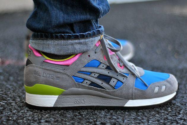 design de qualité a1155 24e92 Asics Gel Lyte III Gris Bleu - Disponible - Sneakers.fr ...