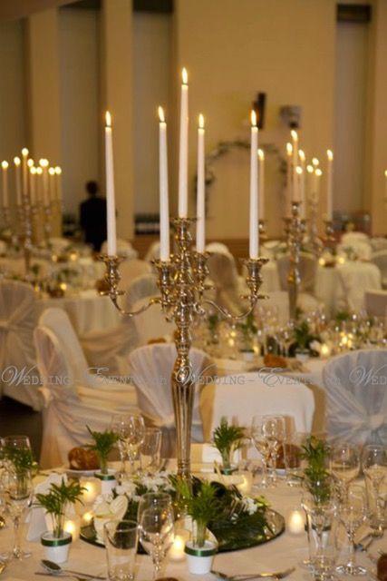 Kerzenst nder silber 80 cm mieten luxurydecoration - Kerzenstander dekorieren ...