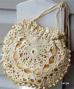 73fd76aed Receitas de Crochet  Bolsa de festa
