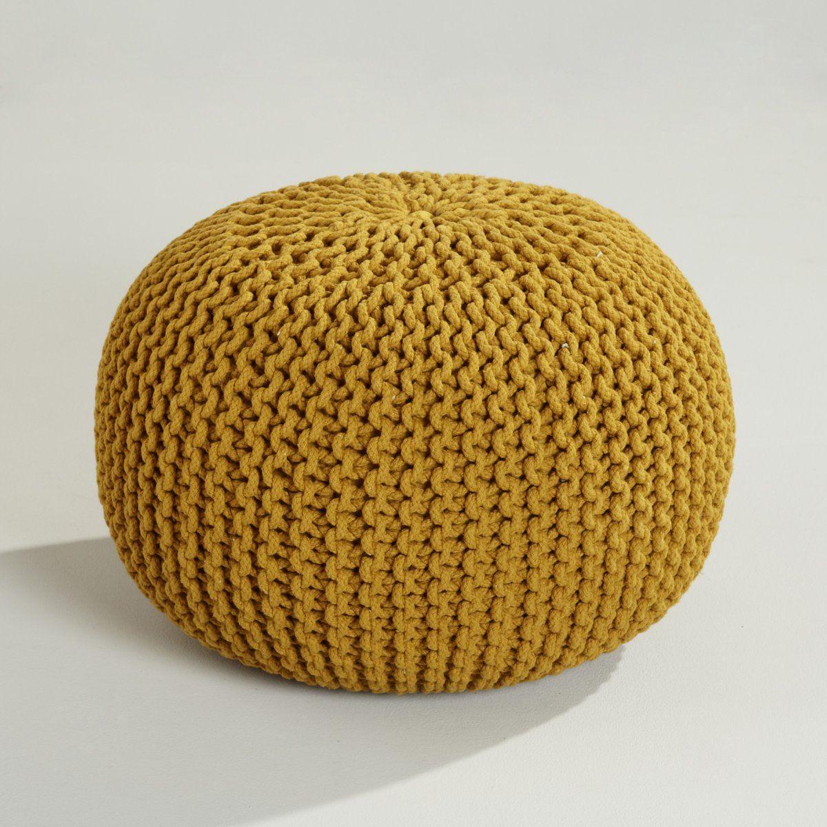 pouf maille tricot e jakob am pm la redoute denise salon pinterest. Black Bedroom Furniture Sets. Home Design Ideas