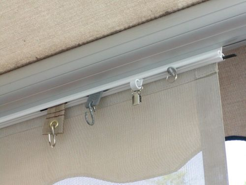 Twin Trak Rv Awning Accessory The Easy Way For Sunscreen And Lighting Awning Accessories Rv Trailer Awning